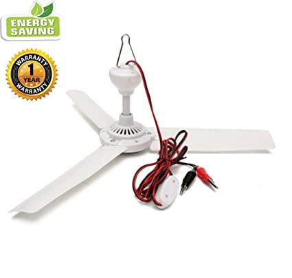 Amazon sunlar 12v dc 197 inch ceiling fan with switch outdoor sunlar 12v dc 197quot inch ceiling fan with switch outdoor camping suit for 12v battery aloadofball Gallery