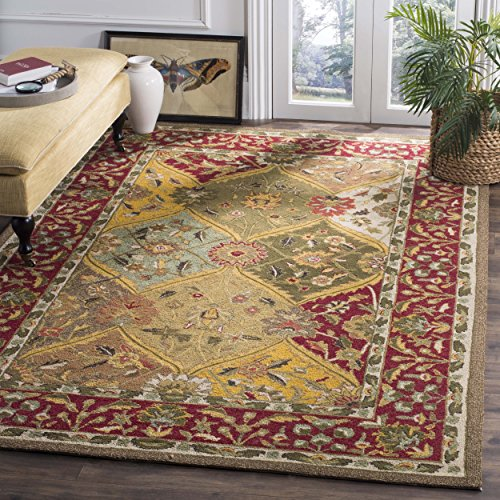 Safavieh Easy to Care Collection EZC761A Handmade Multi and Red Area Rug (3' x 5')