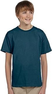 Hanes Youth ComfortBlend EcoSmart Poly Cotton T-Shirt, Denim Blue, X-Small 5370