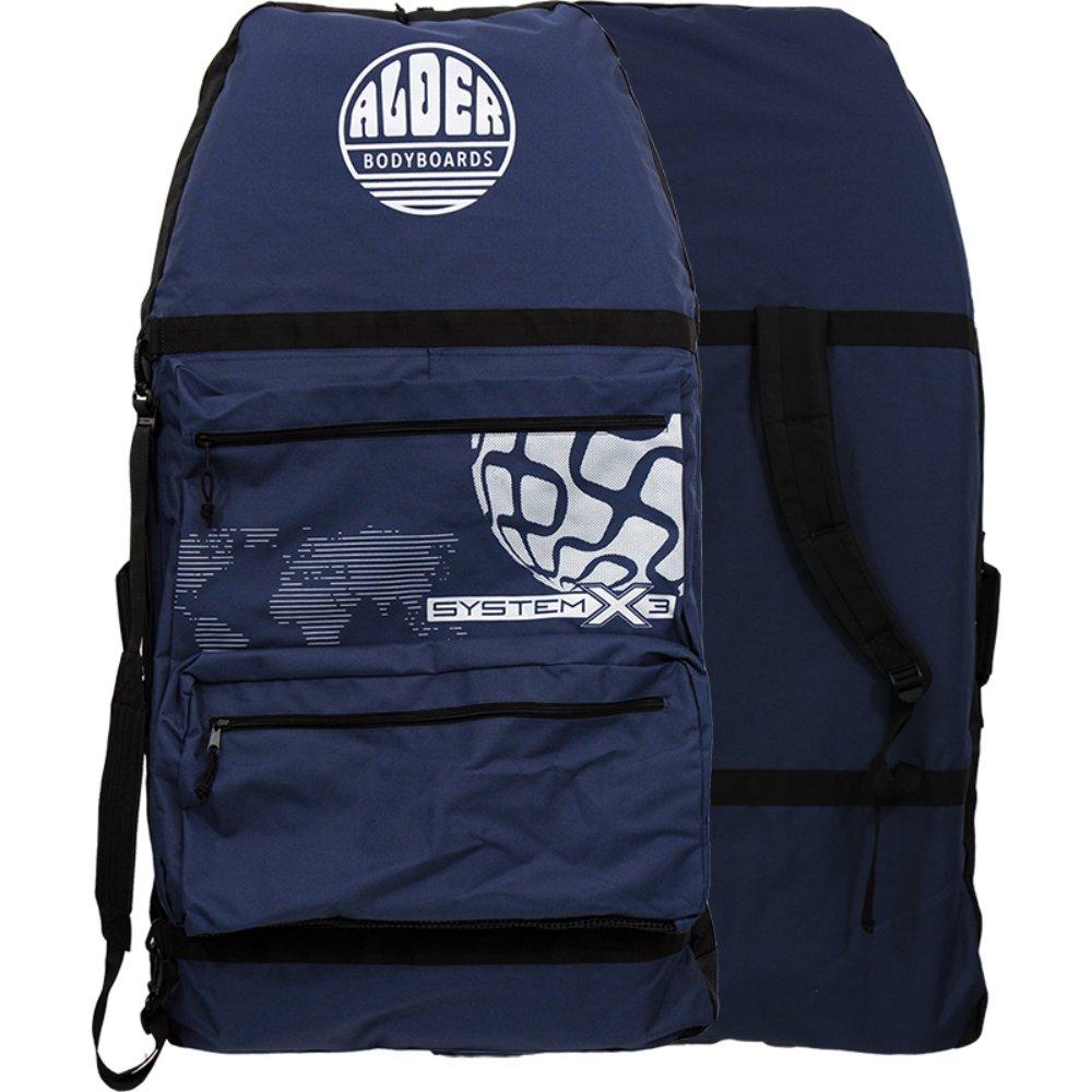 Alder, borsa per bodyboard sistema X3 da 111,8 cm, colore blu/grigio