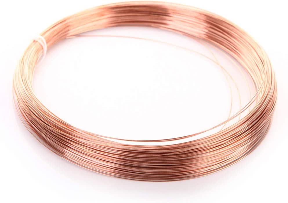 ,Diamter 1.5mm Length 1.2mm x 5m 4000mm XXNOO T2 Pure 99.90/% Copper Thin Wire Craft Round Copper Line Roll Jewelry Making DIY