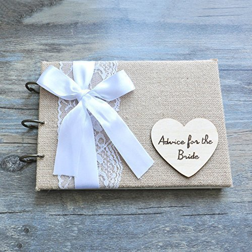 amazon com personalized rustic wedding guest book bridal shower