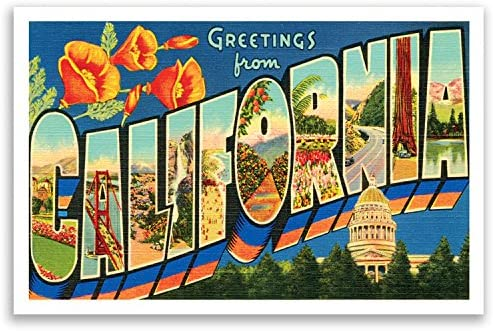 For sending a postcard to a friend family member Country Maps Postcard Set 130 Thick Cardstock 4 Postcards