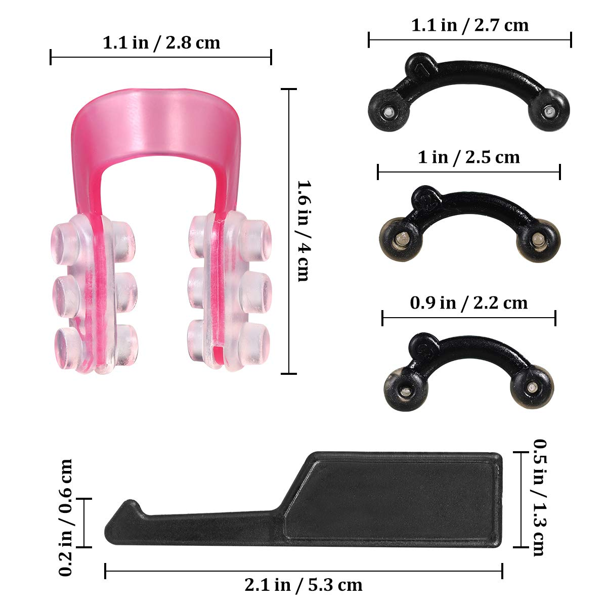 Nose Up Lifting Shaping Clip Clipper Shaper Beauty Tool Set Plastic (Pink)