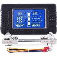 MICTUNING Pantalla LCD Medidor de Monitor de Batería