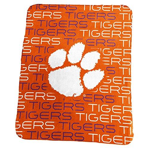 (Clemson University Tigers CU Fleece Throw Blanket)