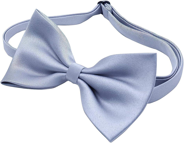 Werbowy Mens Pre-Tied Satin Formal Tuxedo Bowtie Adjustable Length Satin Bow Tie