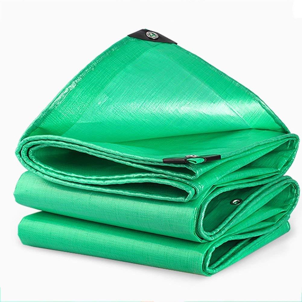 タープアリン、ターマチックグリーン防水ターポリンフロアカバーキャンプ、釣り、ガーデニング、厚さ0.38mm、マルチサイズオプション(4×6m) (色 : Verde, サイズ さいず : 12m × 6m) 12m × 6m Verde B07K8PB6Q2