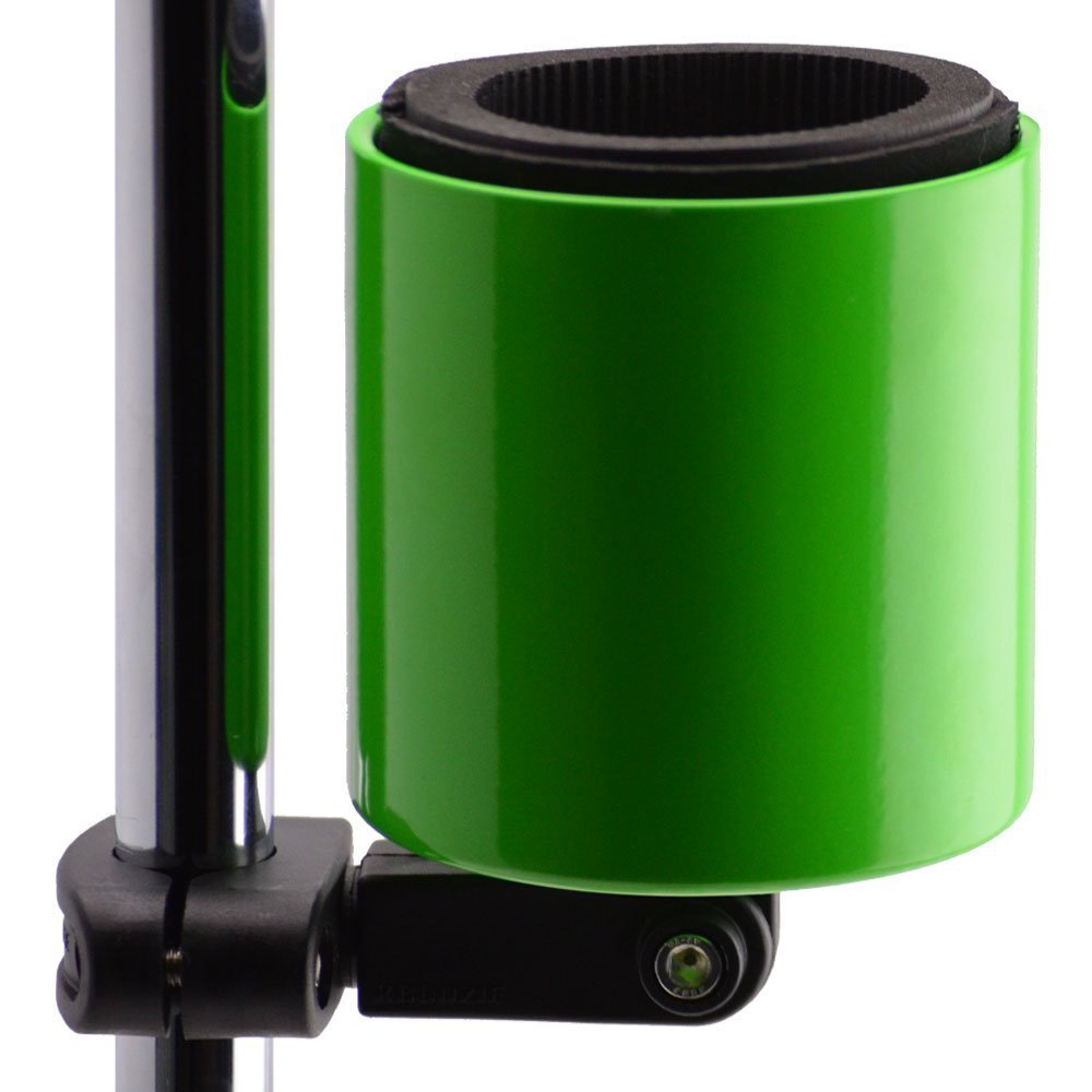 Kroozie Kroozercups Deluxe Bicycle Cup Holder 2.0 in Lime Green