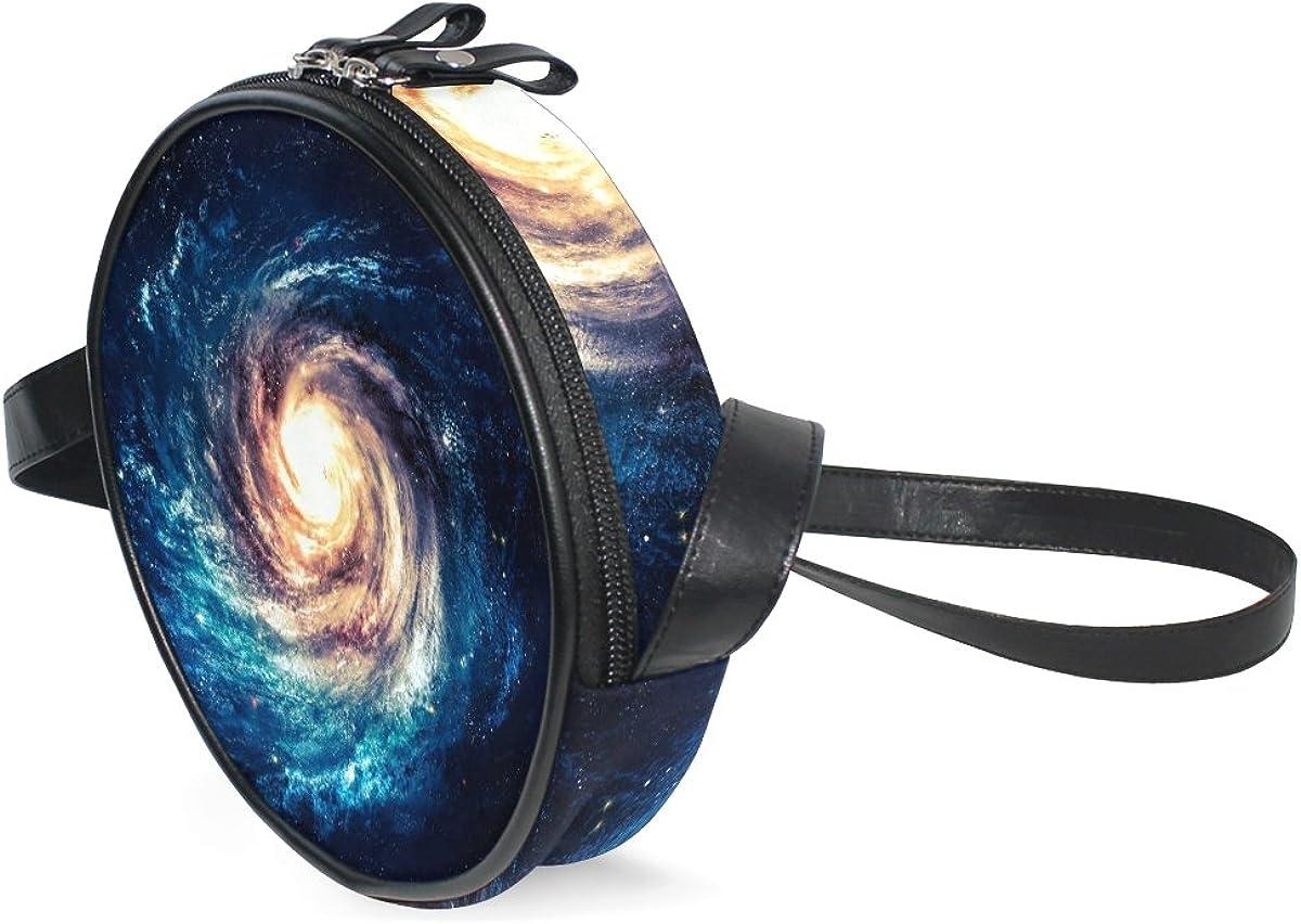 XinMing Universe Milky Way Girl Round Crossbody Shoulder Bags Adjustable Top Handle Bags Satchel for Women