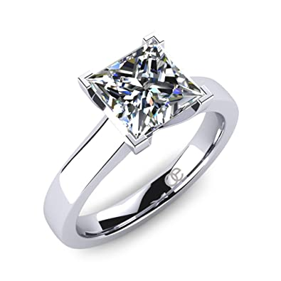 d3f3387e4e1c Moncoeur Engagement Ring Tendresse with Combination of Princess Cut  Swarovski Crystal and 925 Sterling Silver is Nicest Gift for Ladies and Key  to Love ...