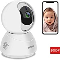 Peteme Baby Monitor 1080P FHD Home WiFi Security Camera
