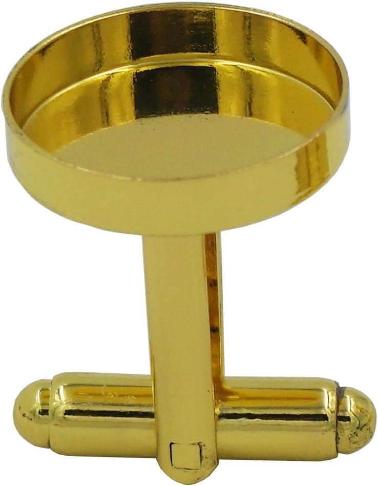 Bronze Cufflinks Bluemoona 10 Pcs Brass Blank Cuff Links Findings 16mm Mens Shirt Wedding Business 5 Paris