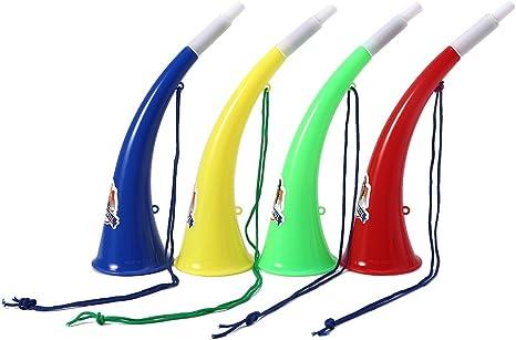 Balón de fútbol de plástico Manyo Vuvuzela con Ox Horn Shape Juego de ventiladores de distribución de suministros para Kid Trompette Party Toy Random: Amazon.es: Deportes y aire libre