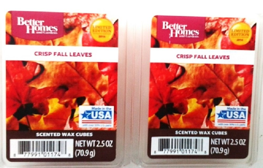 Better Homes & Gardens Fall Leaves Scented Wax Cubes – Two (2) Packs (2.5 oz Each)