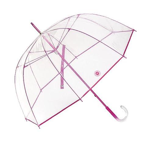 Paraguas Cacharel transparente cúpula fucsia