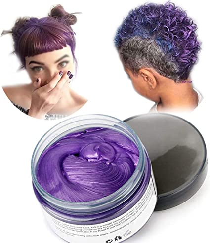 Cera del color del pelo, peinado mate natural para party.osplay, Halloween (Púrpura)