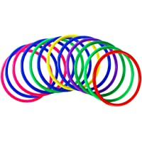 TOYMYTOY Plastic Toss Rings, Outdoor Speed and Agility Practice Games, 12 Pcs