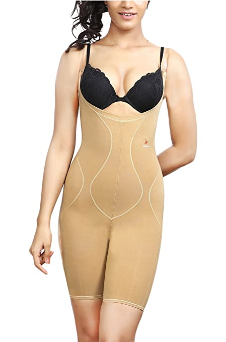 Adorna Body Slimmer (Transparent Straps) Ladies Shapewear Shapewear at amazon