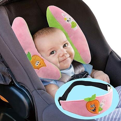 Ajustable del bebé almohadilla del coche apoyo para la cabeza del niño de soporte de la