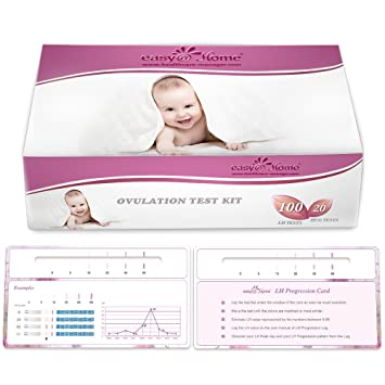 amazon com easyathome 100 ovulation test and 20 pregnancy test
