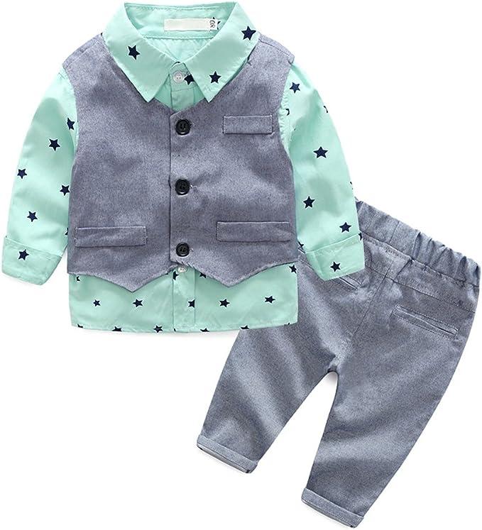 Baby Jungen Anzugshemd Kleinkind Gentleman Fliege Formelle Anzug Party Strampler