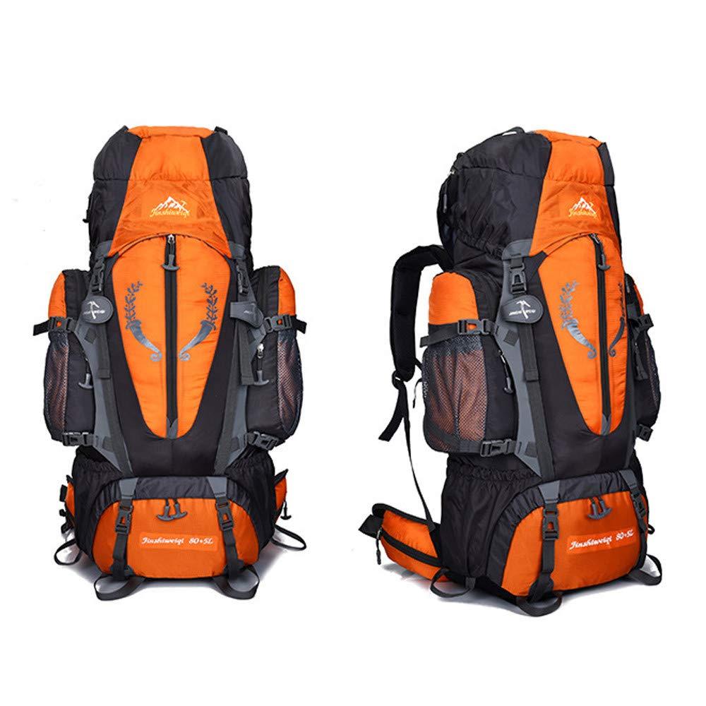 XGao Camping 85L Mountaineering Backpack Bag Hiking Outdoor Travel Rucksack Bags New (Orange) by XGao