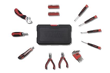 WOLFGANG Caja de 40 herramientas manuales | Juego de Puntas para Taladro Atornillador de tipo Phillips, Planas y Hexágonales | Bolsa de Alicates, ...