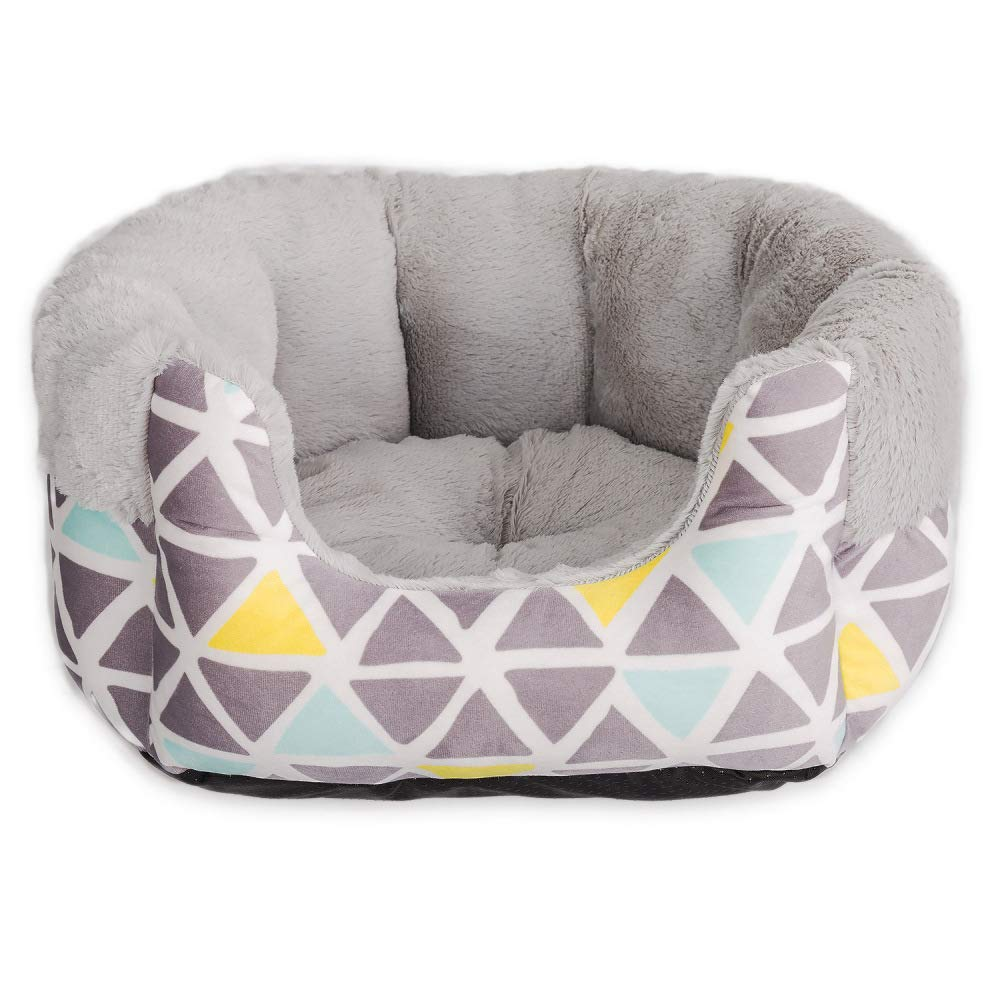 Grey Medium Grey Medium ANHPI-kennels Kennel Winter Keep Warm Comfortable Breathable Large Small Dogs Houses Nordic Geometry Dog Bed Washable Pet Nest Supplies,Grey-M