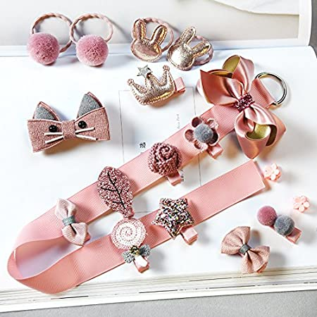 18pcs//set Cute Hair Clip Snaps Hairpin Girls Baby Kids Hair Bow Accessories Gift