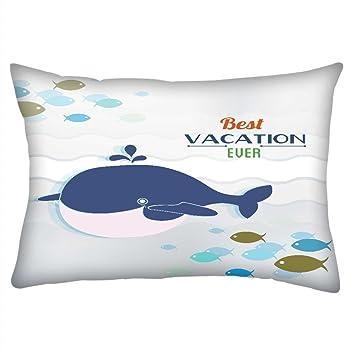 Snoogg Summer Vector Illustration avec Doodle Poissons d\'eau de mer ...