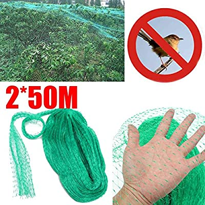GRENFAS Mesh_2x50m Anti Bird Net Pond Netting Protection Orchard Garden Farm Crop Plant Crops Fruit Tree Vegetable Flower Garden Mesh Protect