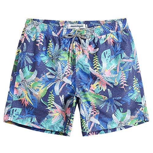 MaaMgic Mens Quick Dry Funny Swim Trunks with Mesh Lining Swimwear Bathing Suits Print Flora