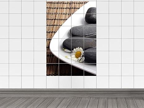 Piastrelle adesivo piastrelle immagine wellness pietre con