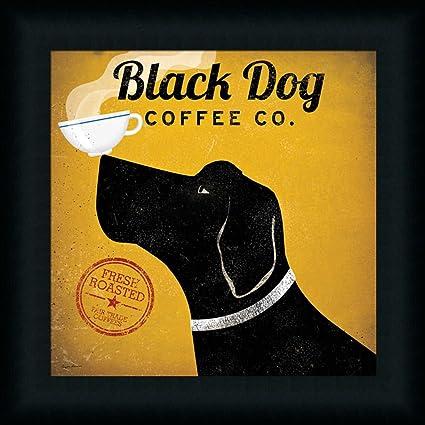 Amazon.com: Black Dog Coffee Co. by Ryan Fowler Labrador Coffee Cup ...