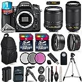 Holiday Saving Bundle for D7100 DSLR Camera + AF-P 70-300mm VR Lens + 18-105mm VR Lens + Backpack + 2 Of 32GB Card + 1yr Extended Warranty + 0.43X Wide Angle Lens - International Version