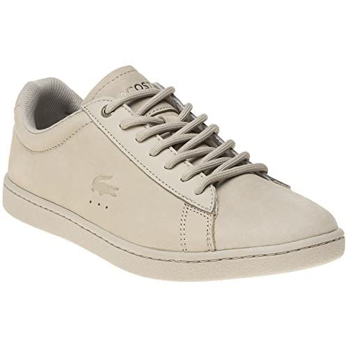 56dee3cce0c641 Lacoste Carnaby Evo Trainers Natural  Amazon.co.uk  Shoes   Bags
