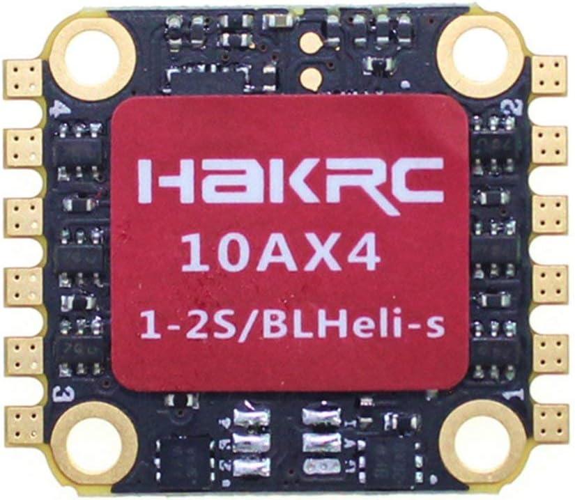 Ballylelly 10A 4 en 1 1-2S BLHeli_S / Dshot 600 ESC Controlador electrónico de Velocidad para RC Racing Drone Quadcopter Accesorios para multicópteros