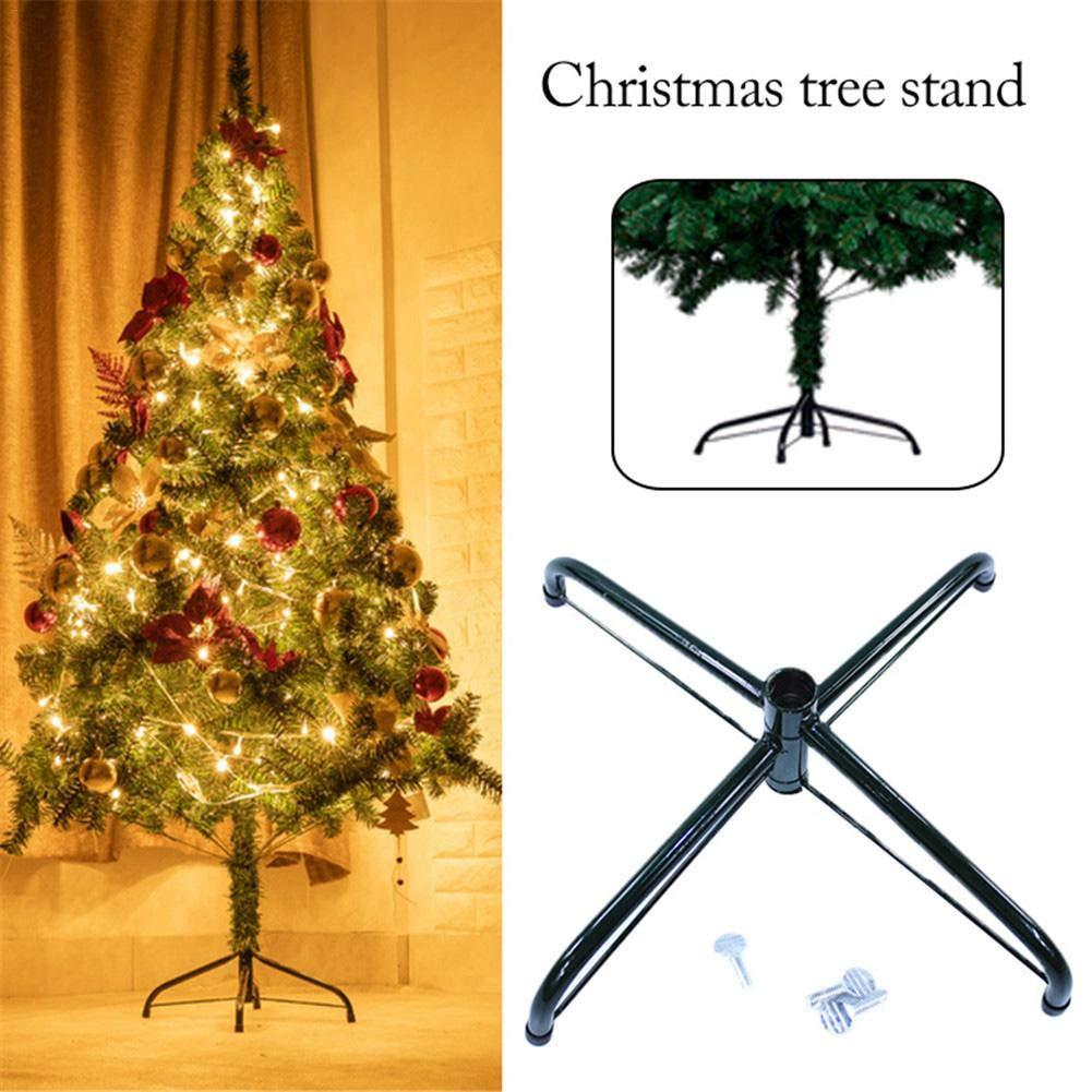 Green learnarmy Base Pieghevole in Metallo per Albero di Natale 40 cm 60 cm 30 cm Accessori per Ornamenti Natalizi 30 cm