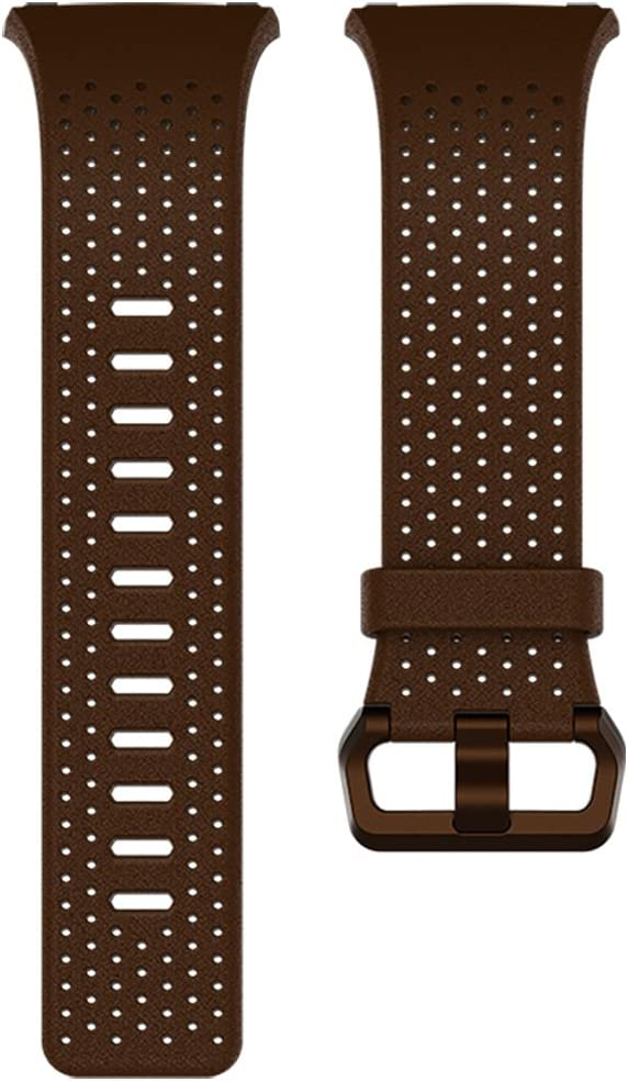 Fitbit Ionic Perforated Leather Accessory Band, Cognac, Small