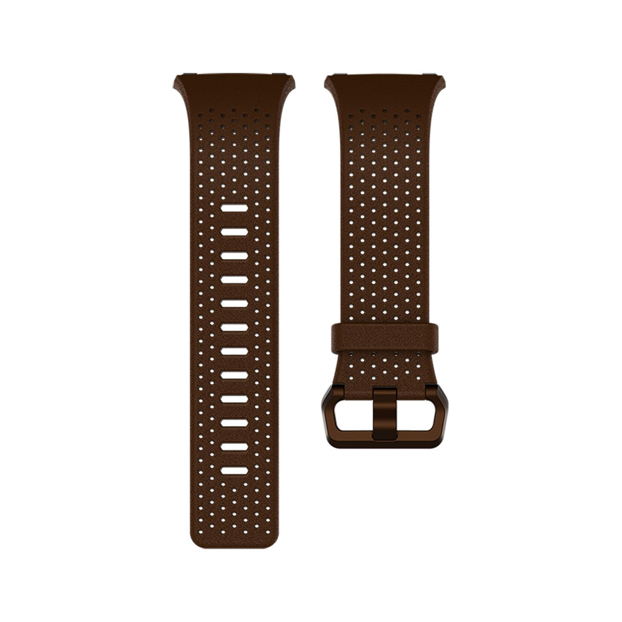 Fitbit Ionic Perforated Leather Accessory Band, Cognac, Large by Fitbit