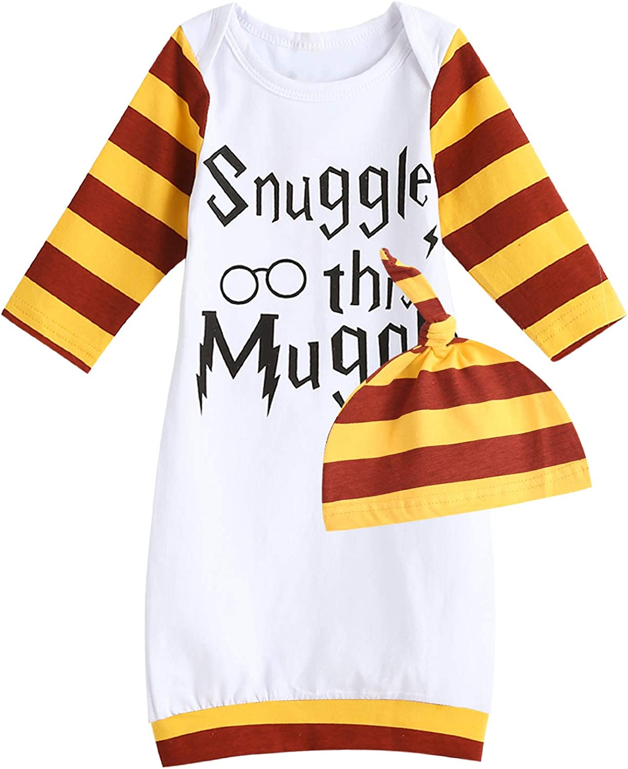 Funny Newborn Baby Gown Layette Baby Boy Girl Sleepwear Soft Sleepers Coming Home Outfits