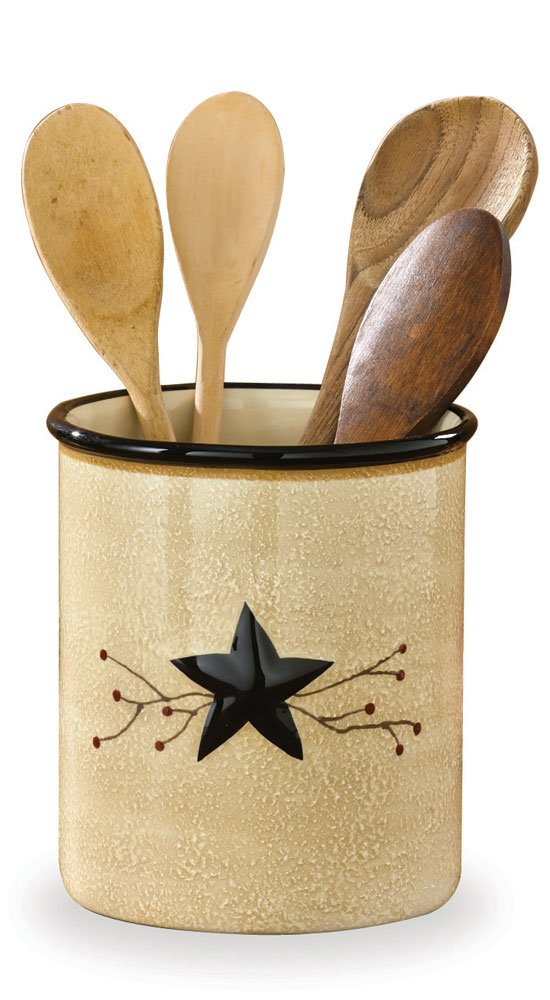 Park Designs Star Vine Utensil Crock, Multicolor by Park Designs