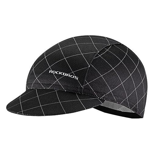 0fcb0054138 Amazon.com  RockBros Men s Cycling Cap Breathable Sun Proof Helmet ...