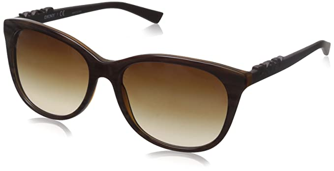 498614603f96 Amazon.com: DKNY Women's 0dy4126 Square, Rule/Brown Transparent, 57 ...