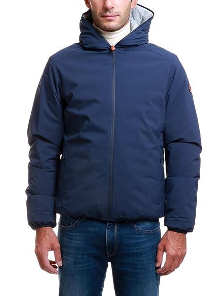 fee158d079ca7 SAVE THE DUCK Giubbotto da uomo reversibile con cappuccio  Amazon.it   Abbigliamento