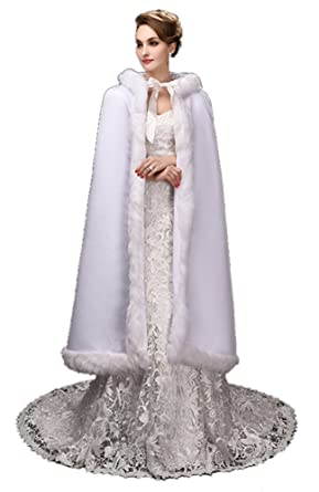 Warm Winter Pelz Lang Braut Mantel Bolero Umhang Brautstola Schal ...