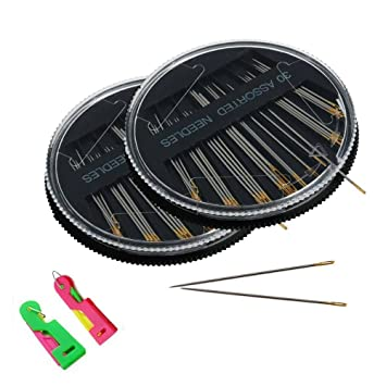 gootrades 2 Set 30 Grado varios agujas para coser a mano, con 2 libre de