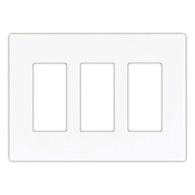 EATON PJS263W Arrow Hart Pjs263 Decorative Screw less Wall Plate, 3 Gang, 4-1/2 In L X 6.37 In W X 0.08 In T White - Switch Plates - Amazon.com