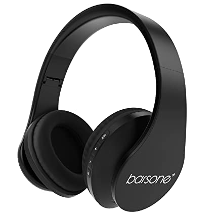 LOBKIN Cascos Inalámbrico Bluetooth con Micrófono y Radio Incorporada Soporta Tarjeta TF, Auriculares Estéreo de Diadema Plegables con Orejeras Suaves ...